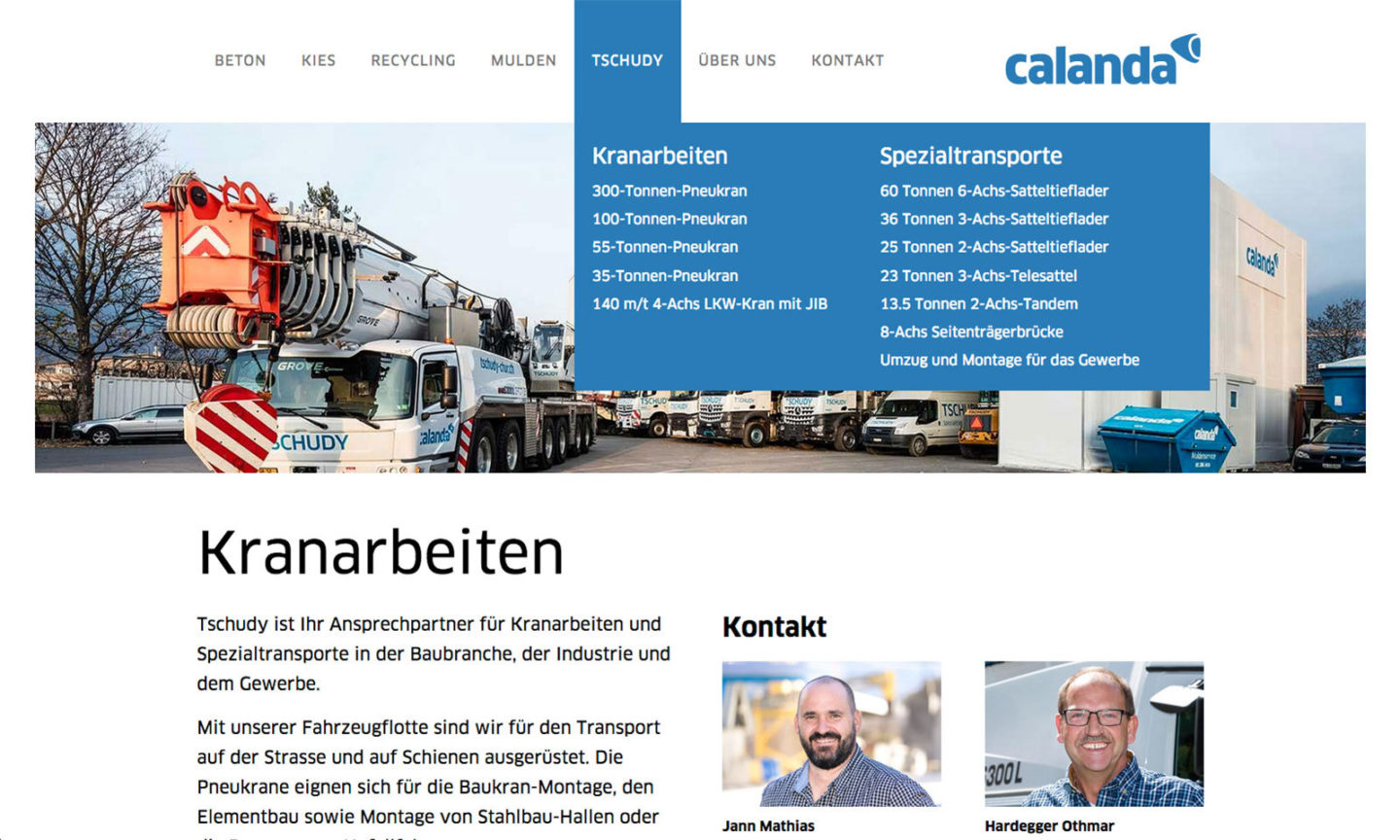 Miux-Corporate-Identity-Calanda-Gruppe-Website
