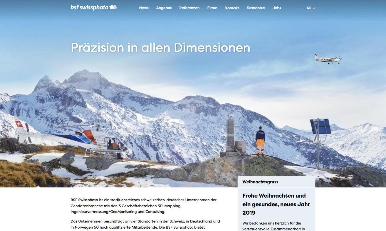 Digital Webdesign BSF Swissphoto Webseite Startseite