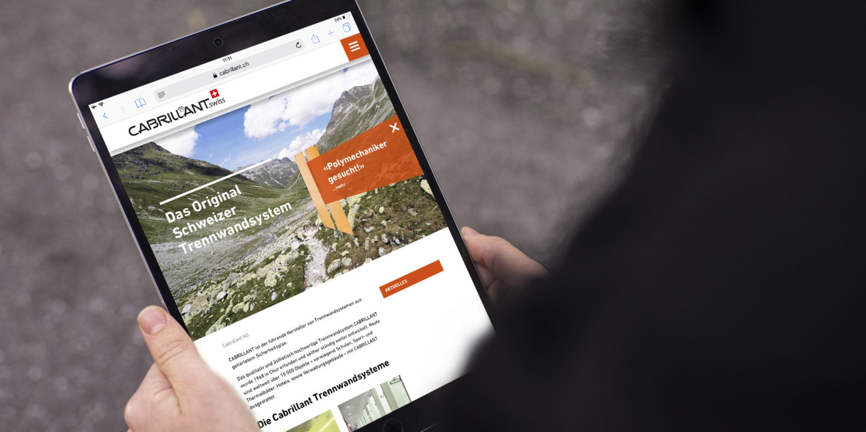 Digital Webdesign Cabrillant Trennwand Homepage