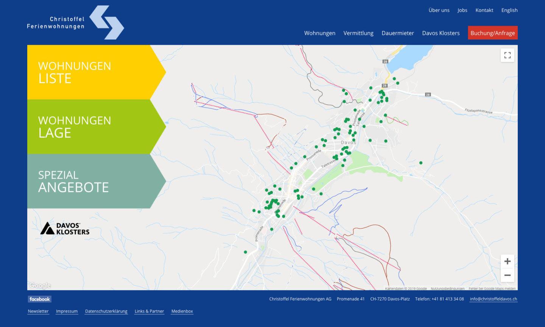 Digital Webdesign Christoffel Ferienwohnungen Webseite Lage
