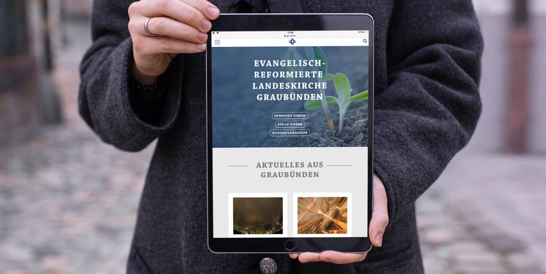 Digital Webdesign Evangelisch Reformierte Landeskirche Graubuenden Webseite Header