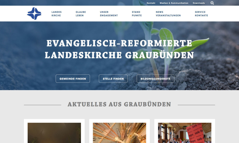 Digital Webdesign Evangelisch Reformierte Landeskirche Graubuenden Webseite Home