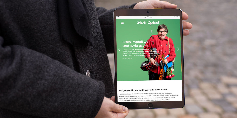 Digital Webdesign Flurin Caviezel Webseite Header