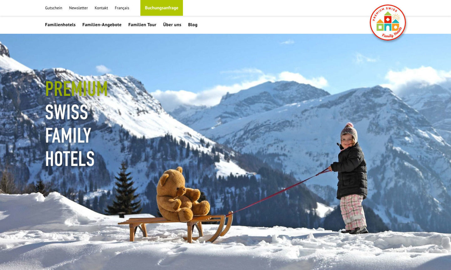 Digital Webdesign Premium Swiss Family Hotels Webseite Home