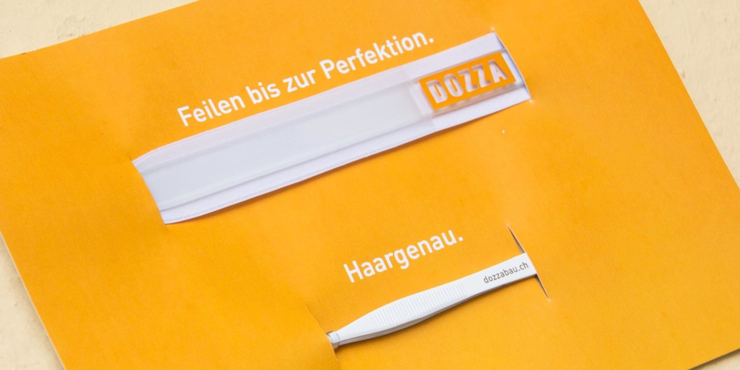 Marketing Kommunikation Dozza Bau AG Kundengeschenk