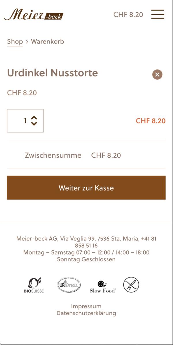Corporate Design Meier Beck Website Mobile