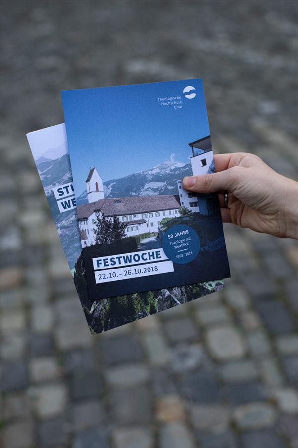 Corporate Design Theologische Hochschule Chur Flyer