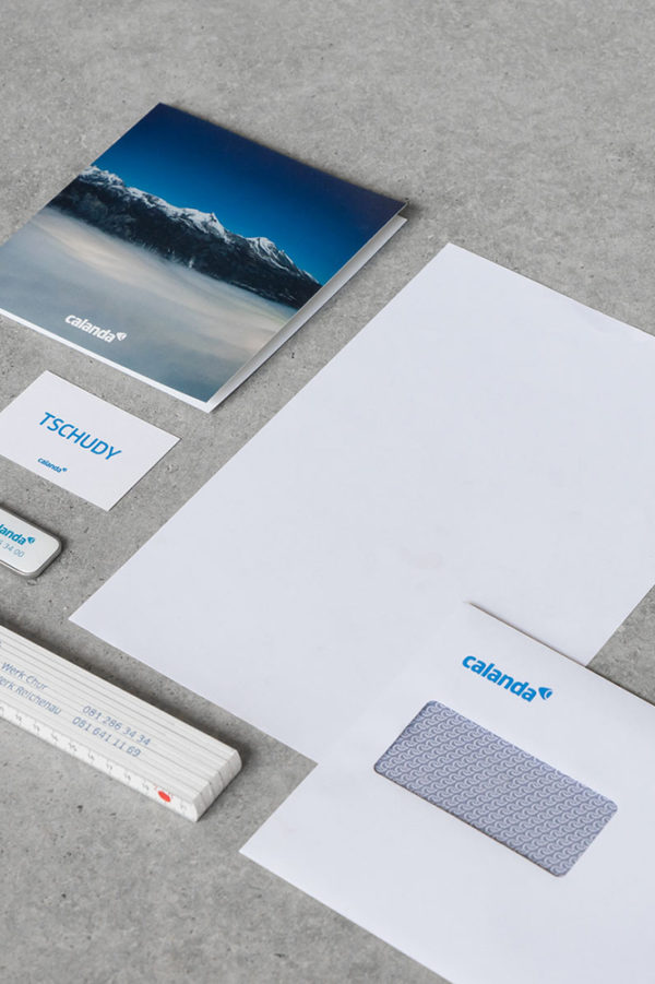 Corporate Identity Calanda Gruppe Briefschaften