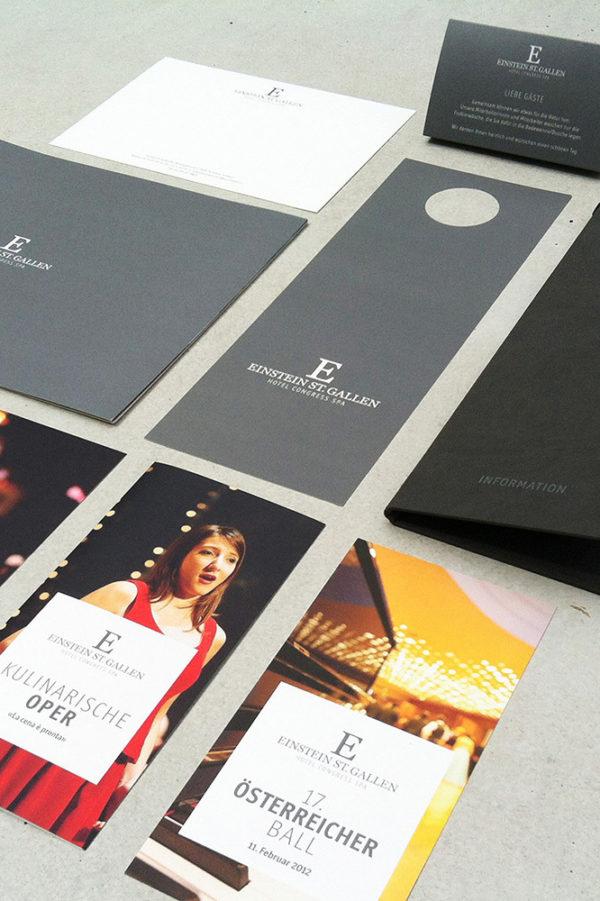 Corporate Identity Hotel Einstein St. Gallen Medienuebersicht 02