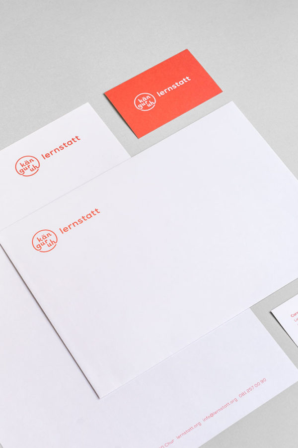 Corporate Identity Lernstatt Kaenguruh Briefschaften