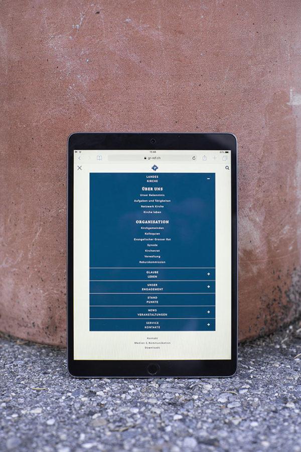 Digital Webdesign Evangelisch Reformierte Landeskirche Graubuenden Webseite Navigation