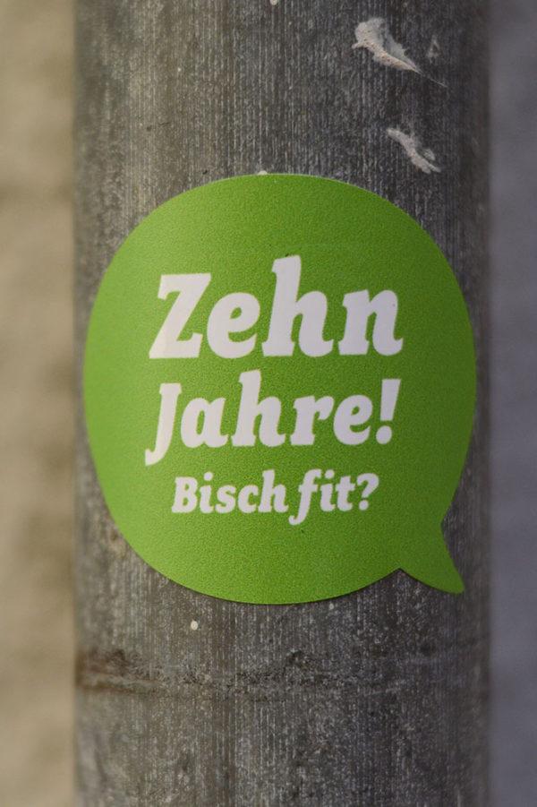 Marketing Kommunikation Bisch fit Sticker