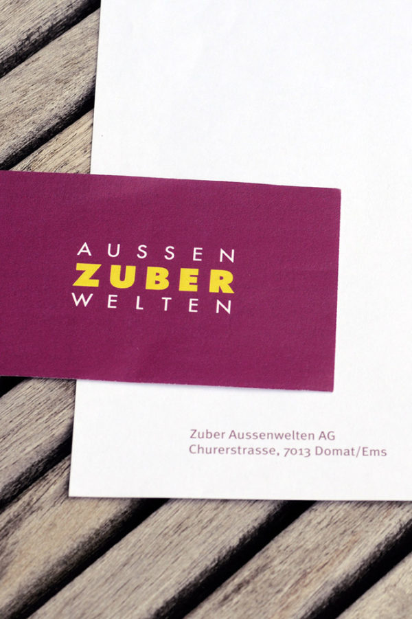 Marketing Kommunikation Zuber Aussenwelten Briefschaft