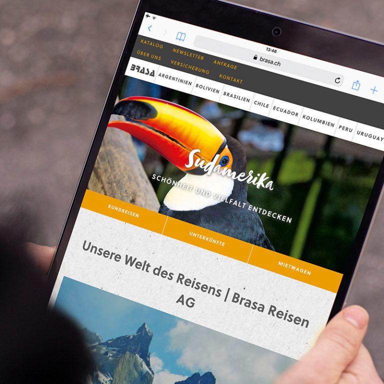 Digital Webdesign Brasa Webseite Projekt