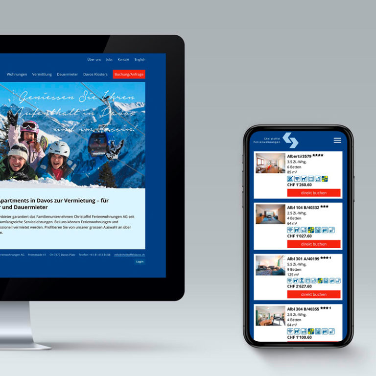 Digital Webdesign Christoffel Ferienwohnungen Projekt