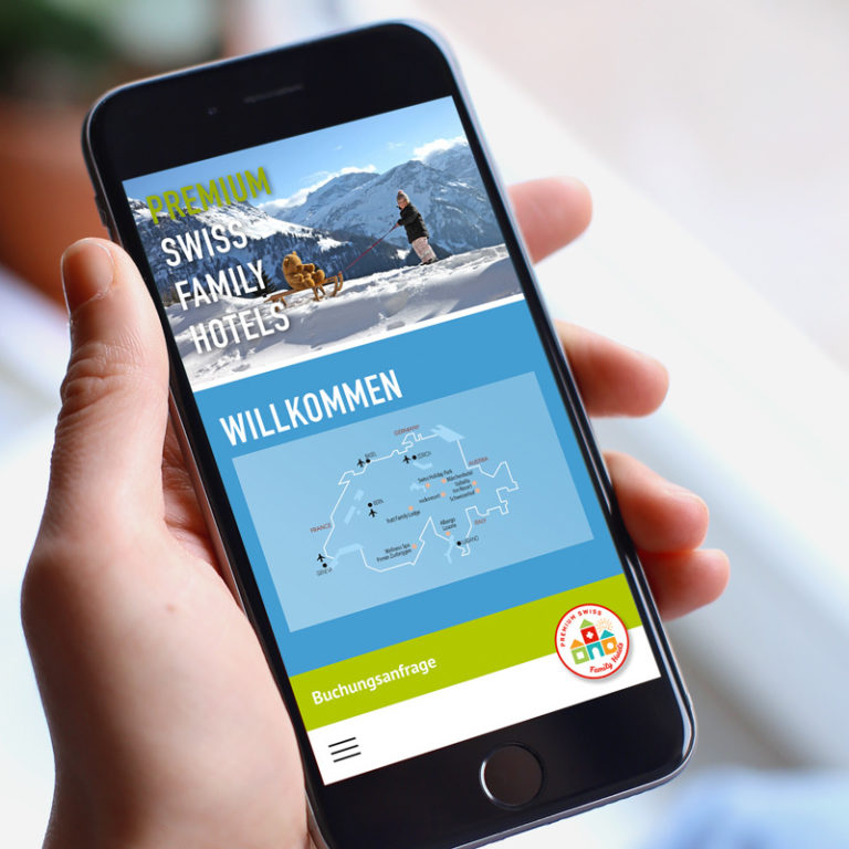 Digital Webdesign Premium Swiss Family Hotels Projekt