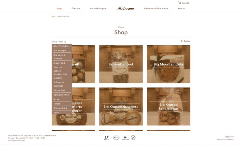 Corporate Design Meier Beck Website