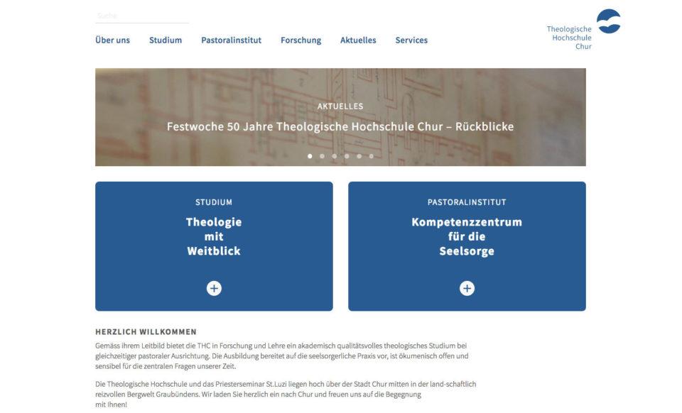 Corporate Design Theologische Hochschule Chur Webseite Home