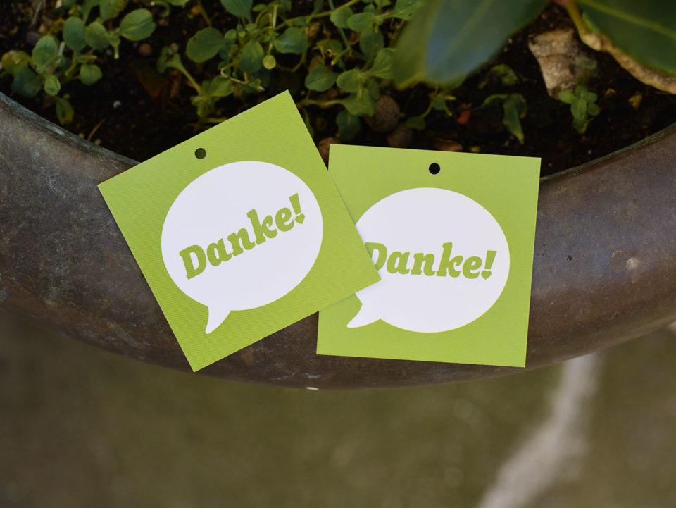 Corporate Identity Bisch fit Danke Anhaenger