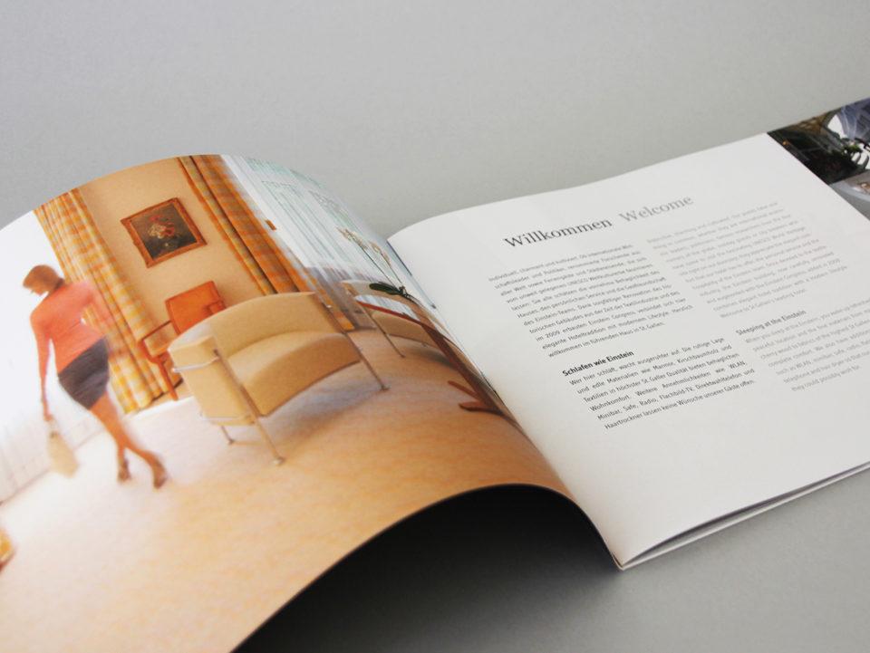 Corporate Identity Hotel Einstein St. Gallen Image Broschuere