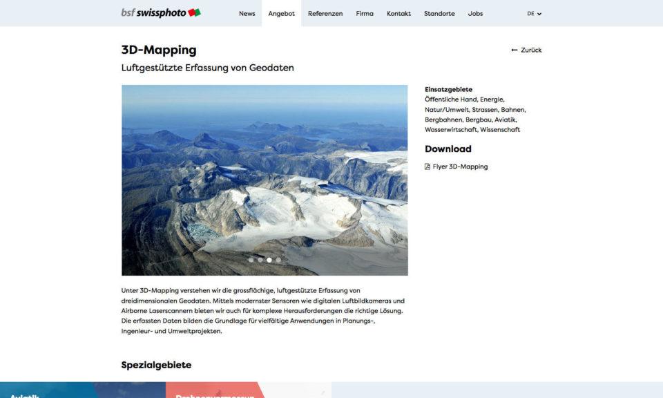 Digital Webdesign BSF Swissphoto Webseite Angebot