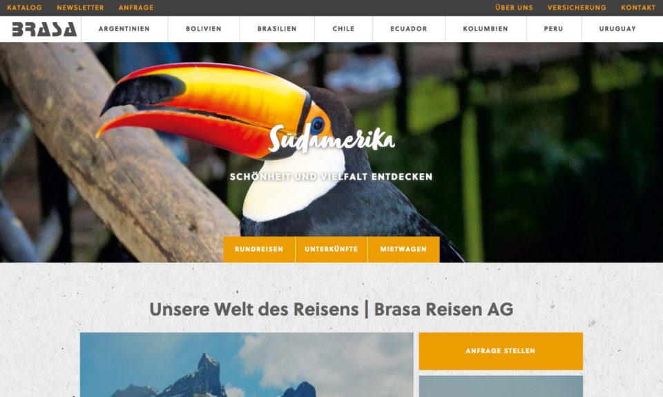 Digital Webdesign Brasa Webseite Startseite