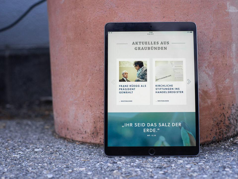 Digital Webdesign Evangelisch Reformierte Landeskirche Graubuenden Webseite 02