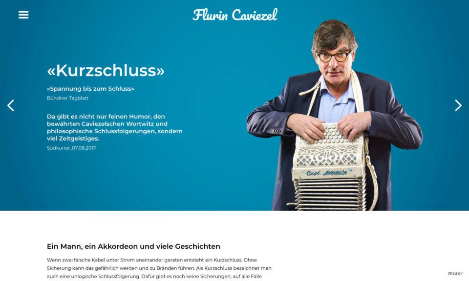 Digital Webdesign Flurin Caviezel Webseite Programm