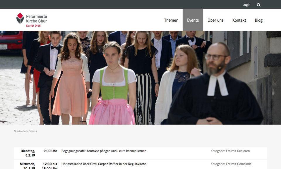 Digital Webdesign Reformierte Kirche Chur