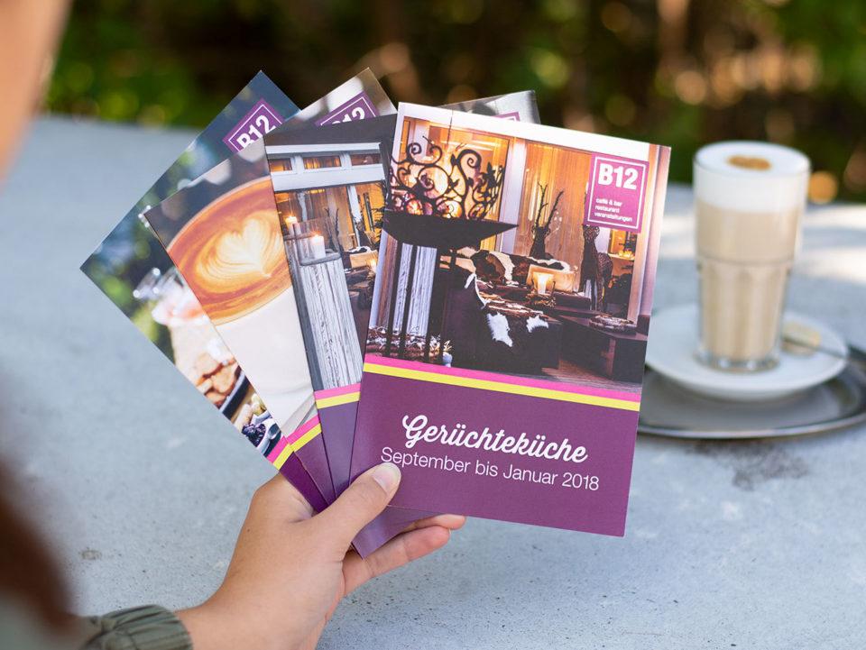 Marketing-Kommunikation B12 Print Newsletter Geruechtekueche