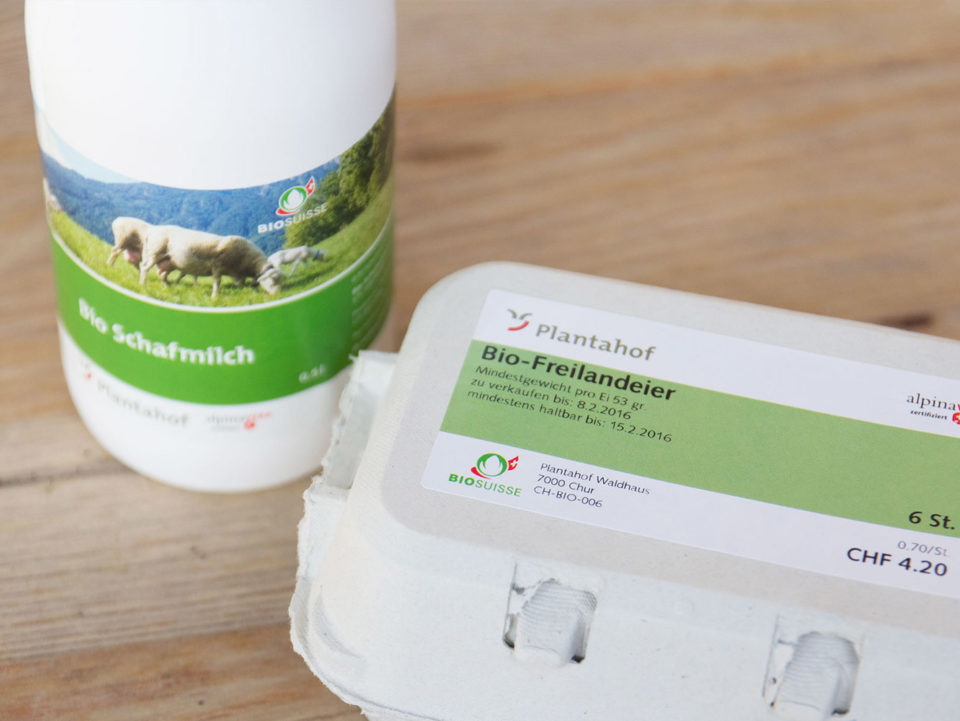 Marketing Kommunikation Plantahof Eier Milch